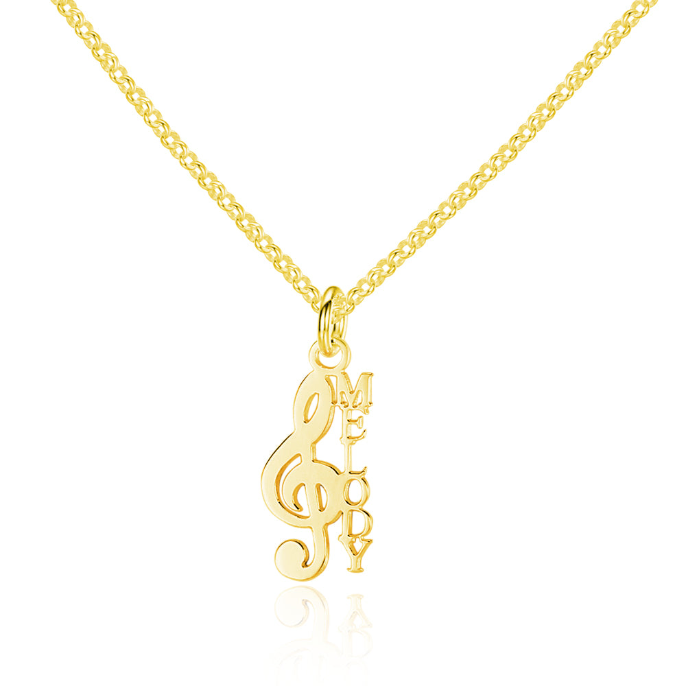 Penelope's Musical Note Personalized Name Necklace