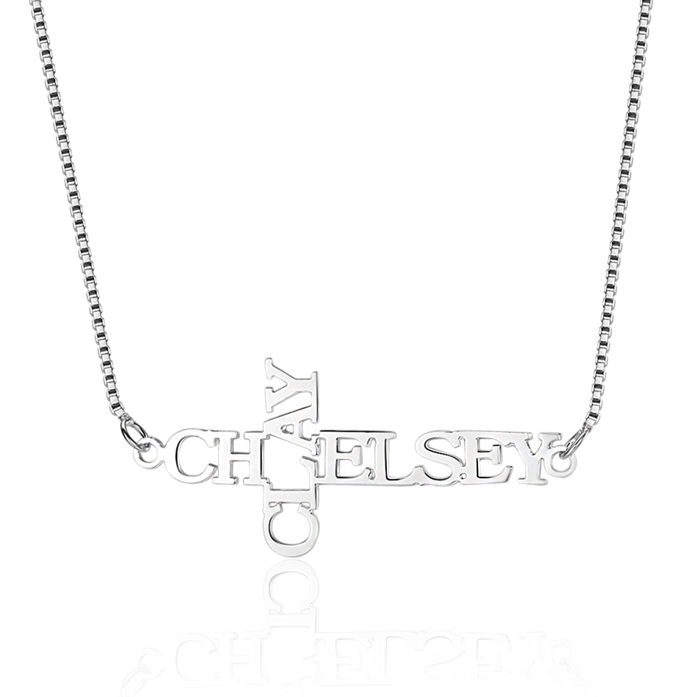 Penelope's Cross Custom Name Necklace