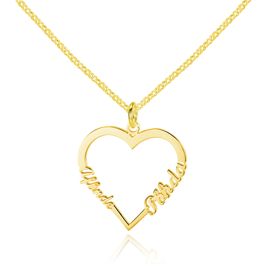 Penelope's Double Name Heart Necklace