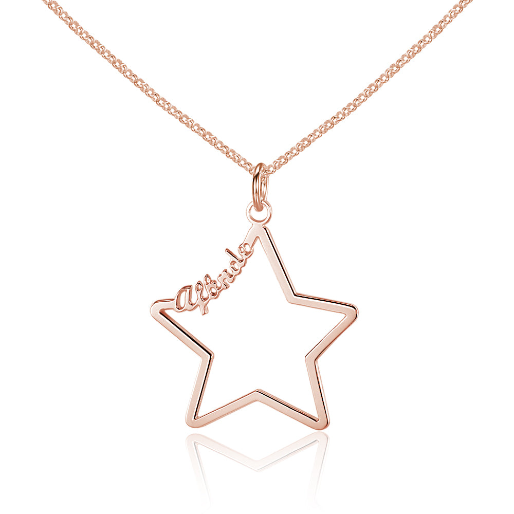 Penelope's Five Point Star Name Necklace