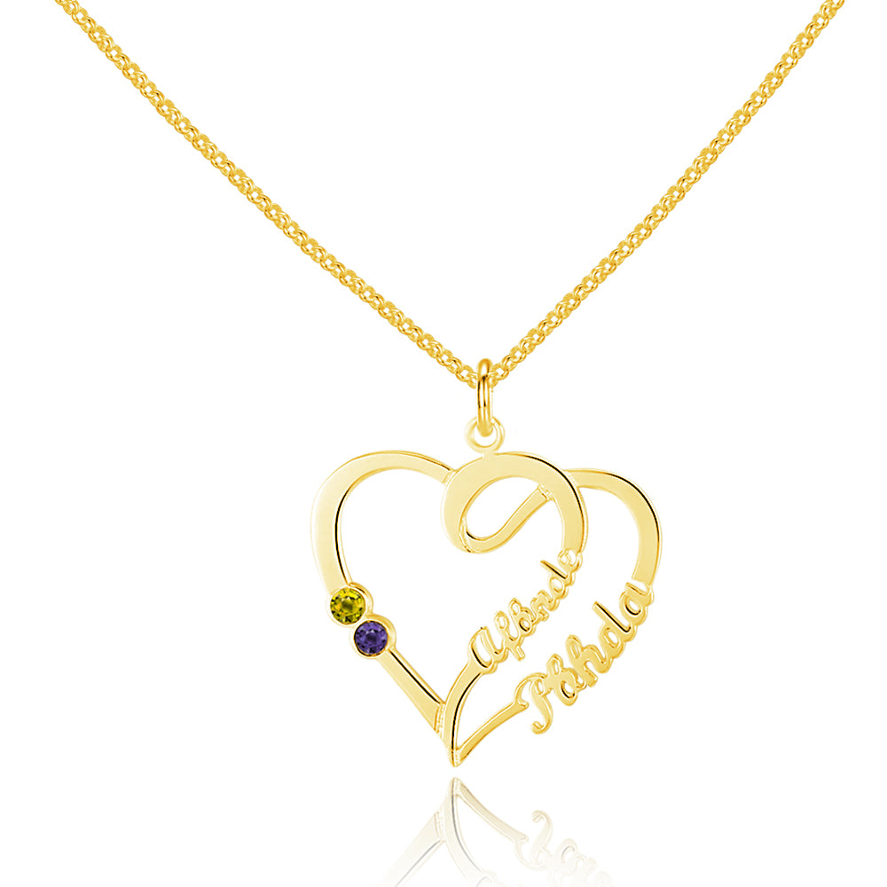 Penelope's Sterling Silver Customizable Name Necklace with Birthstone