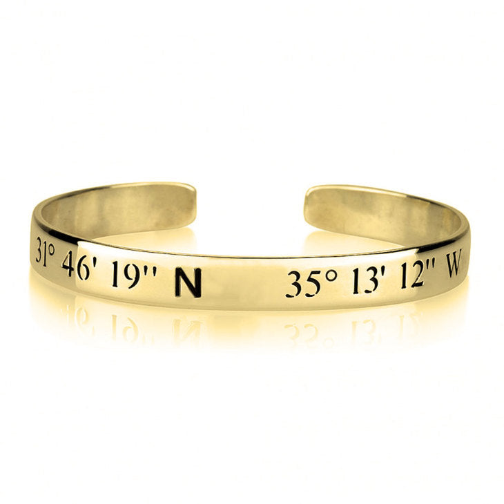 Longitude and Latitude Bracelet