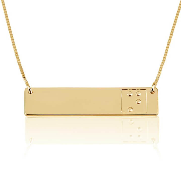 Braille Bar Necklace