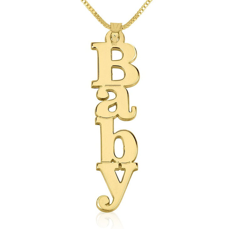 Vertical Name Necklace