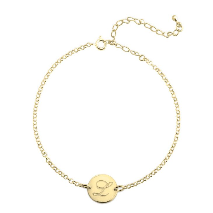 Large Initial Anklet