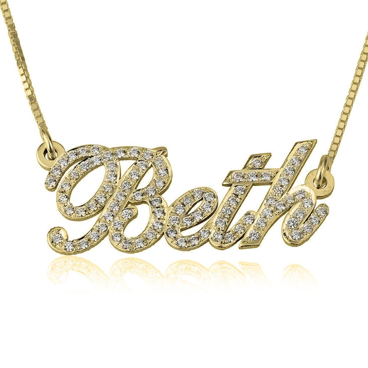 Cubic Zirconia Name Necklace
