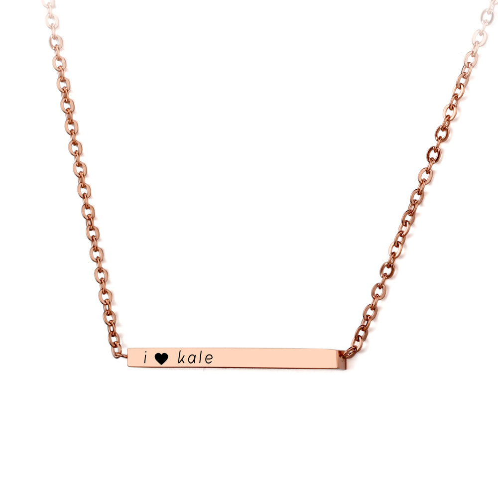 Penelope's Custom Text Bar Necklace