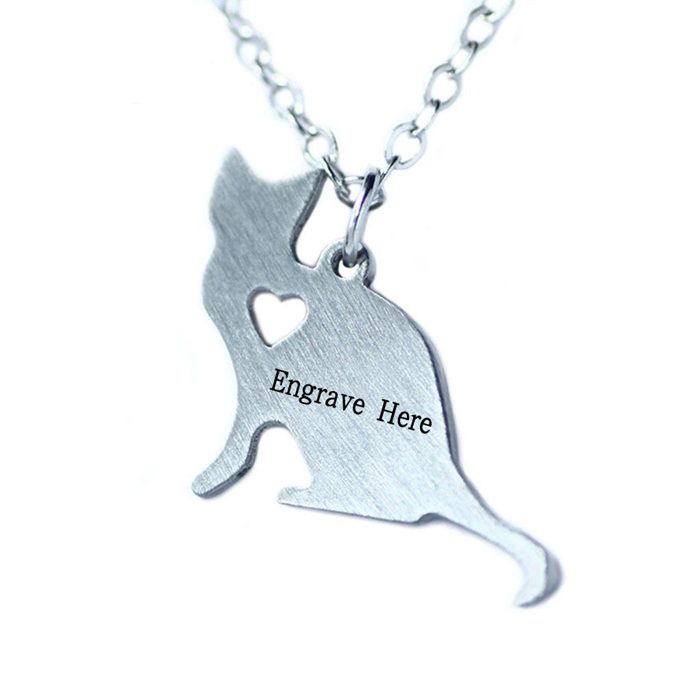 Penelope's Cat Personalized Name Necklace