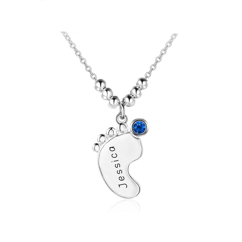 Penelope's Foot Print Personalized Engrave Name Necklace
