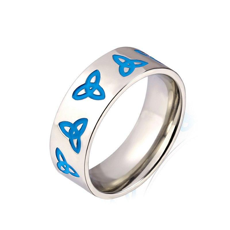 Penelope's Silver and Blue Celtic Knot Ring
