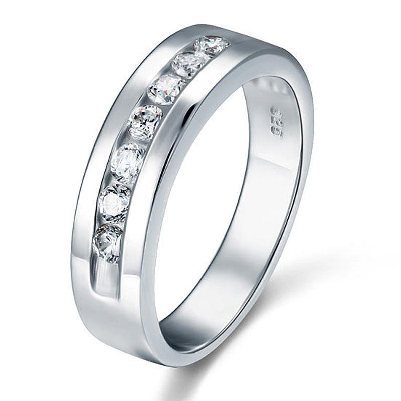 Penelope's Solid Sterling Silver Men's Promise Ring