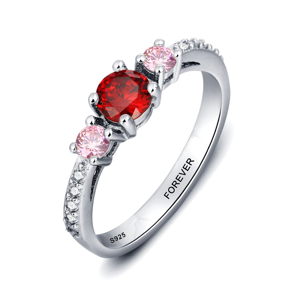 Penelope's Triple Birthstone Purity Ring