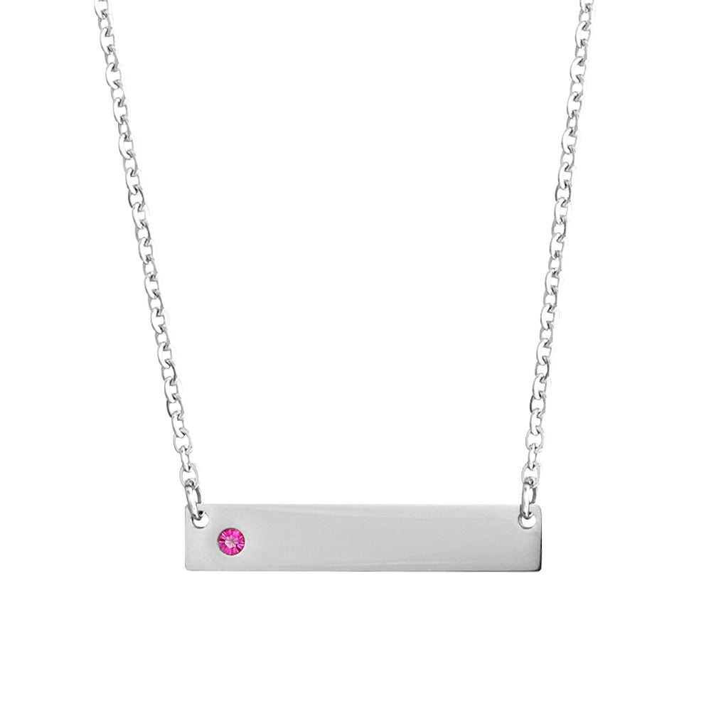 Penelope's Personalized Bar Name Necklace