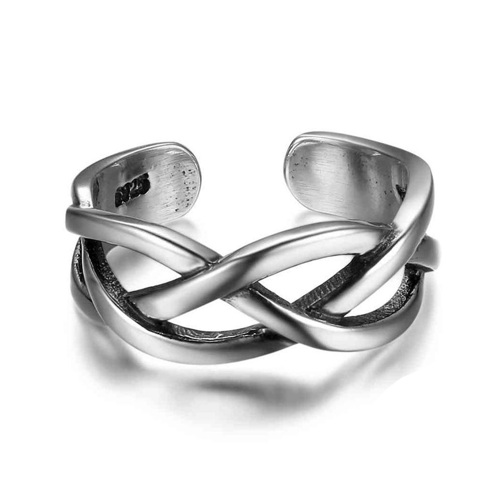 Penelope's Adjustable Celtic knot Open Finger Ring