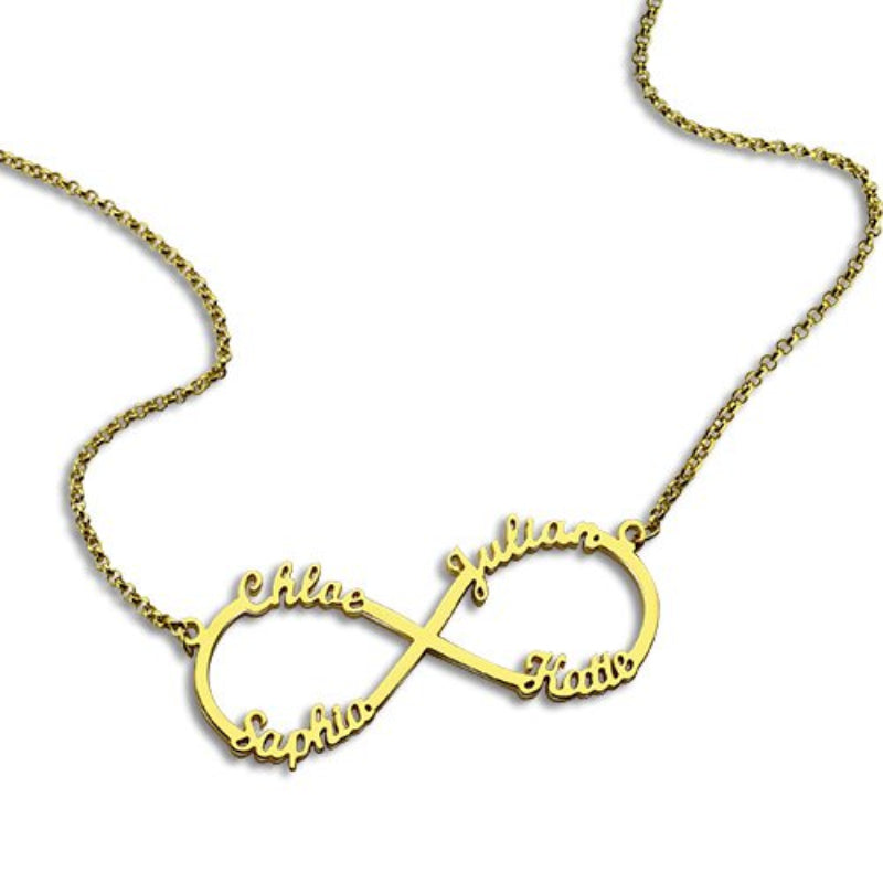 Penelope's Quad Infinity Name Necklace