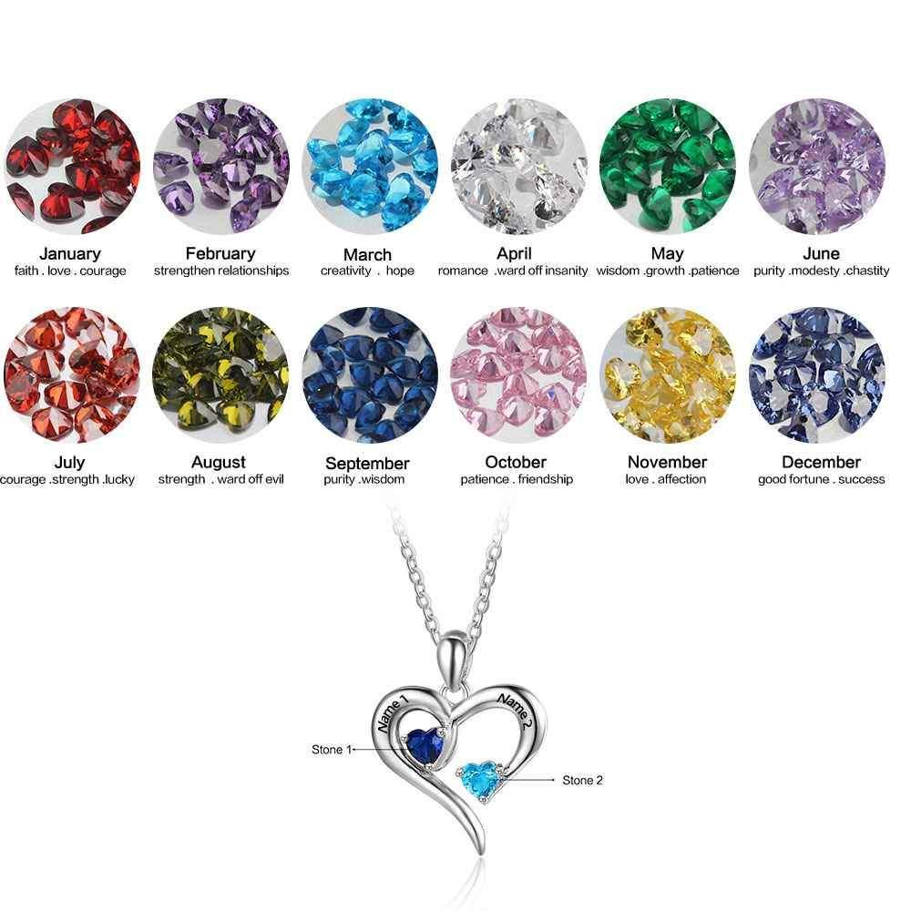 Penelope's Heartstone Personalized Name Necklace