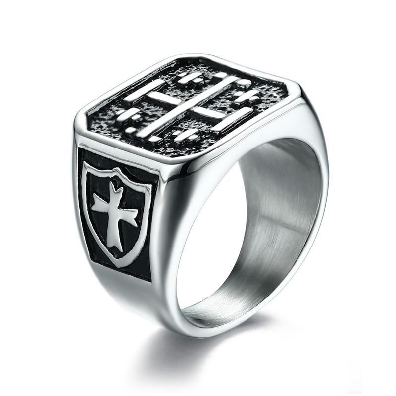 Penelope's Cross of Jerusalem Christian Ring
