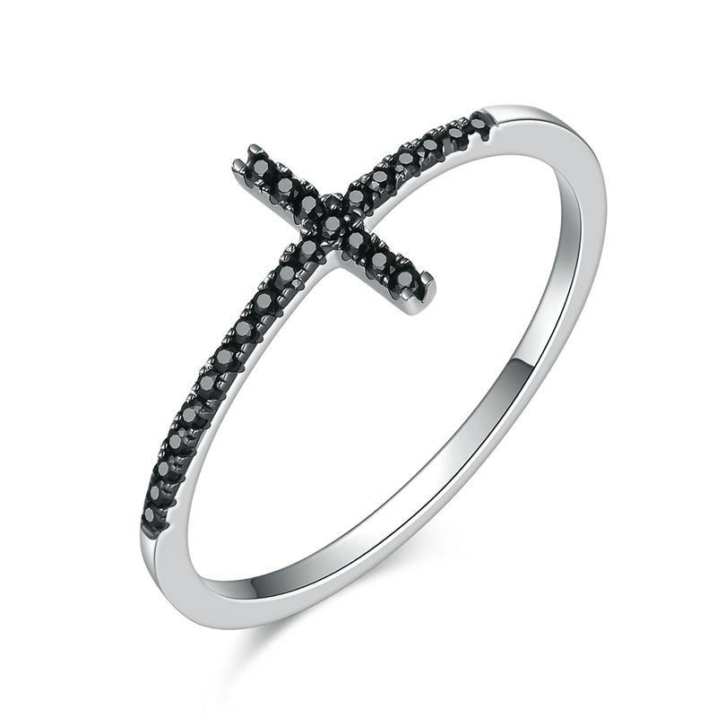 Penelope's Black Cross Christian Ring