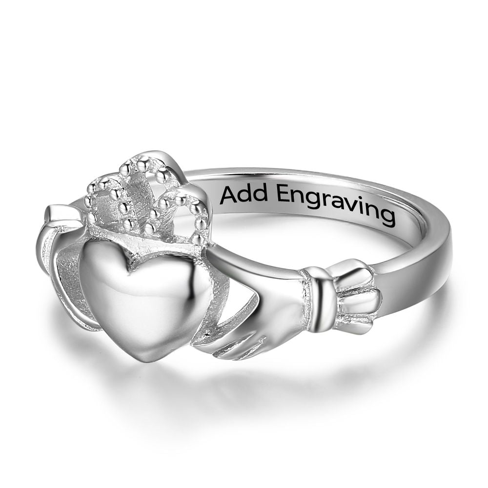 Penelope's Personalized Claddagh Ring