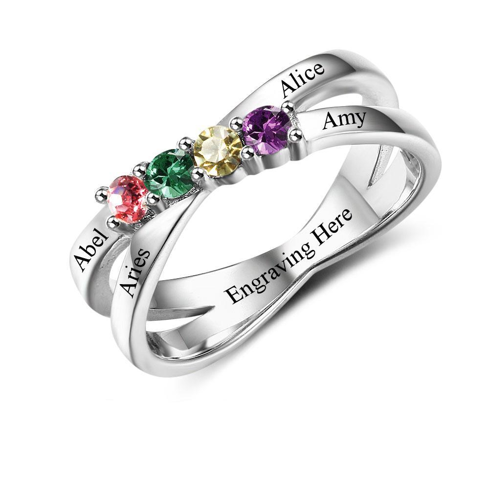 bridal ring intertwined birthstone engagement wedding bands intertwinedinfinitydia rings and with diamonds set infinity