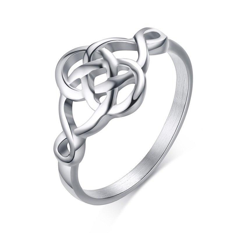 Penelope's Vintage Stainless Steel Celtic Knot Ring