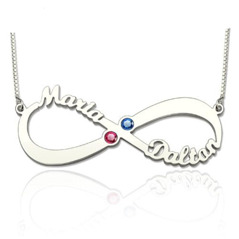 Penelope's Infinite Name Necklace with Birthstones