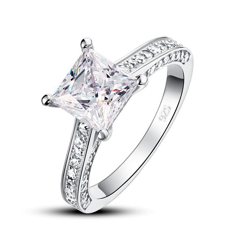 Penelope's Brilliant Princess Cut Promise Ring