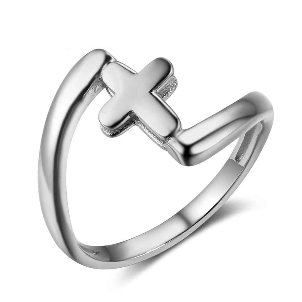 Penelope's Sterling Silver Cross Purity Ring