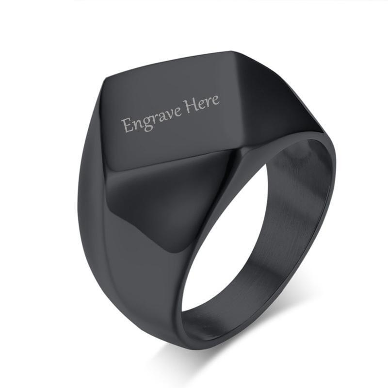 Penelope's Flat Top Custom Engrave Purity Ring
