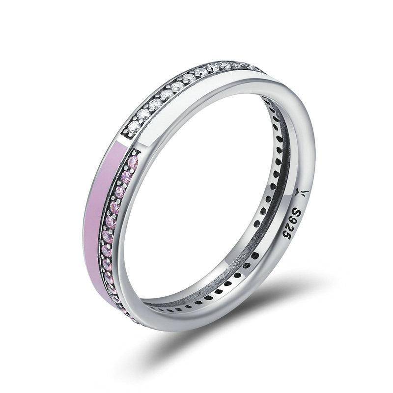 Penelope's Double Layer Pink Enamel Finger Ring