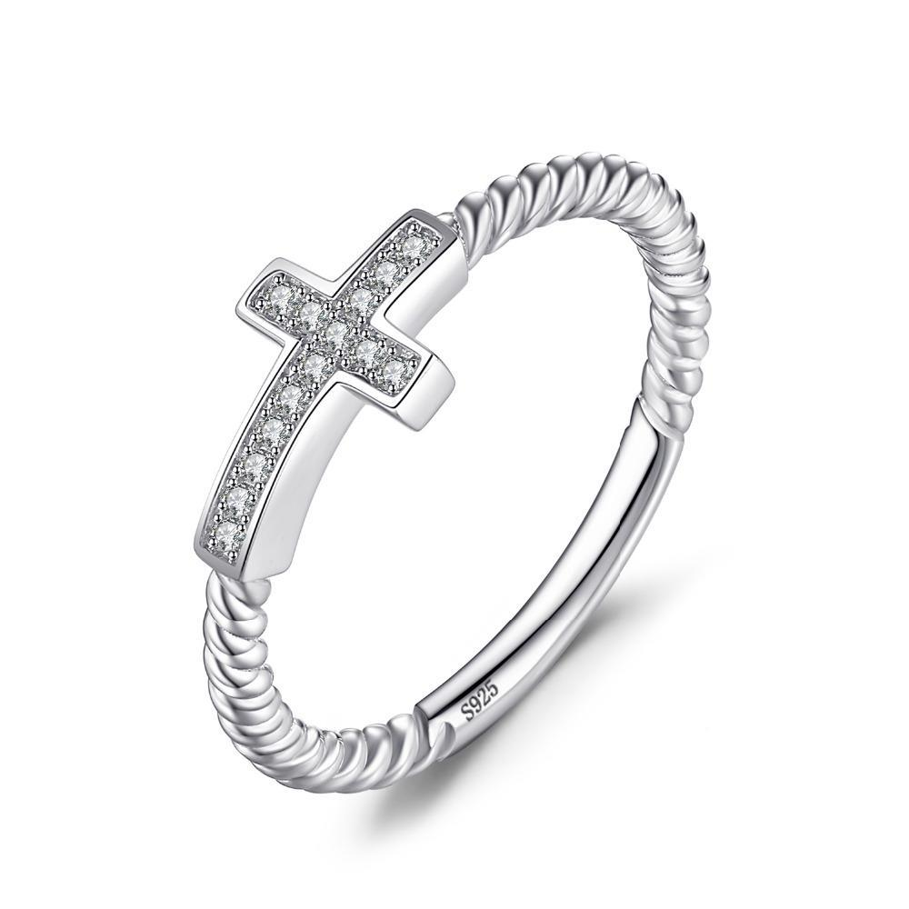 Penelope's Peaceful Cross Christian Ring