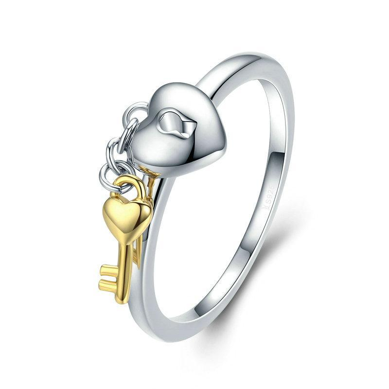 Penelope's Lock and Key Promise Ring