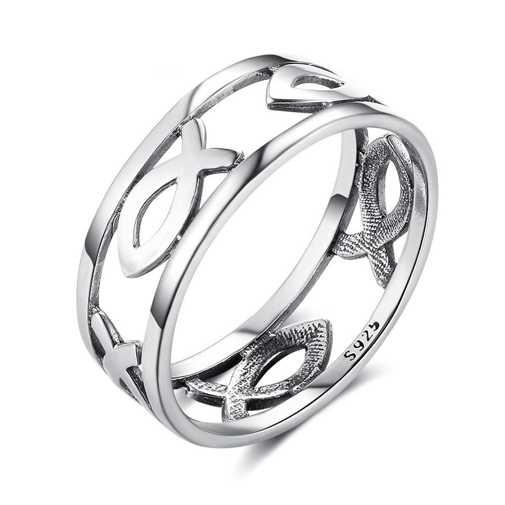 Penelope's Hollow Fish Design Christian Ring