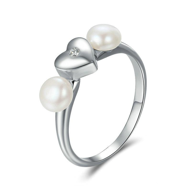 Penelope's Sweet Heart with Fresh Water Pearl Finger Ring