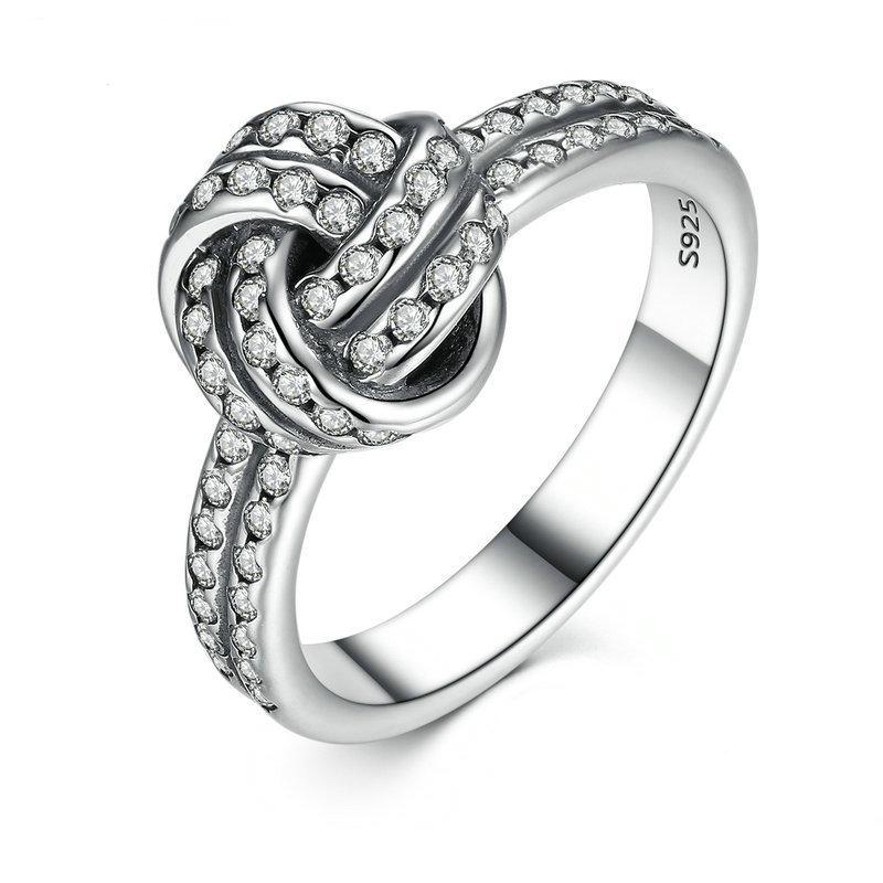 Penelope's Sparkling Love Knot Promise Ring