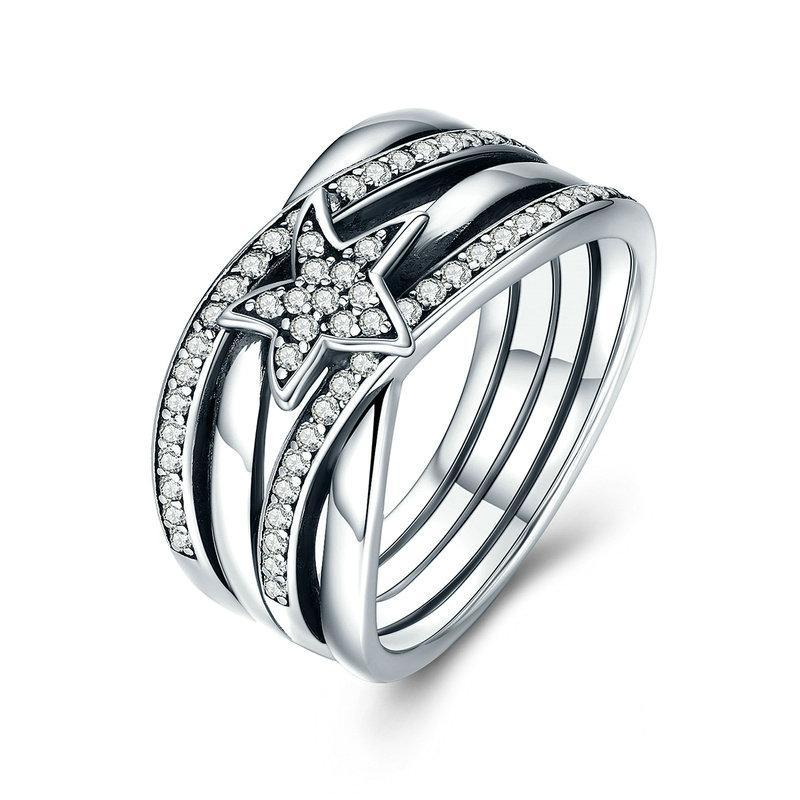Penelope's Sterling Silver Twisted Galaxy Promise Ring