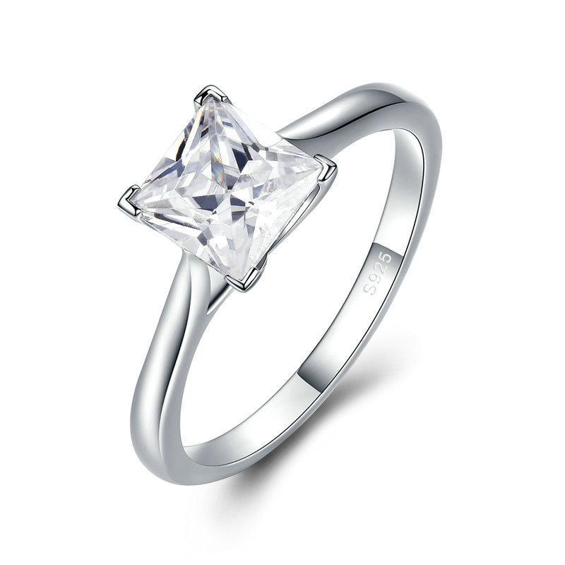 Penelope's Sterling Silver Princess Cut Finger Ring