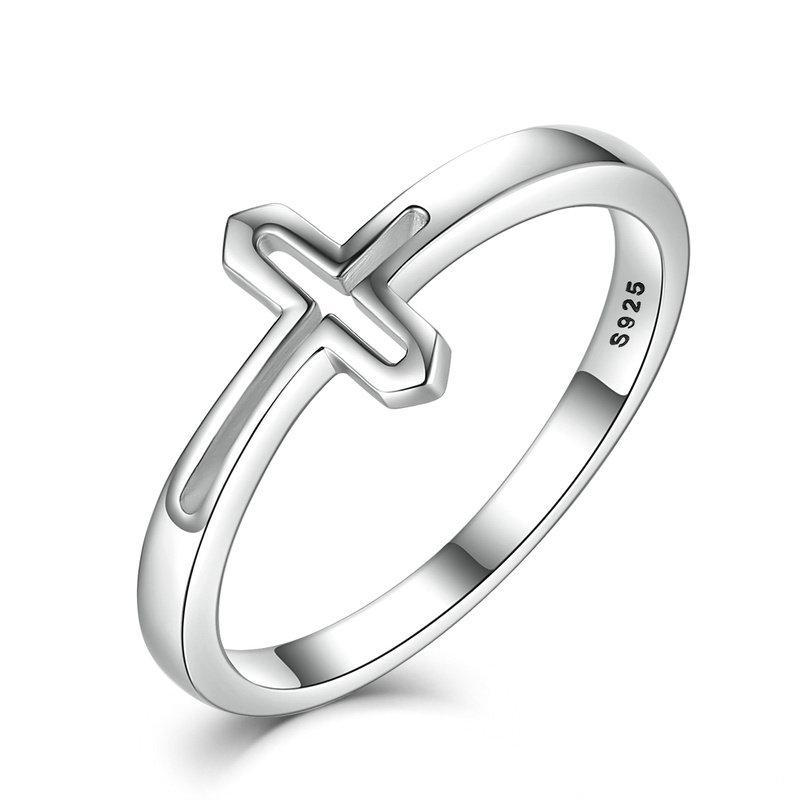 Penelope's Faithful Cross Christian Ring