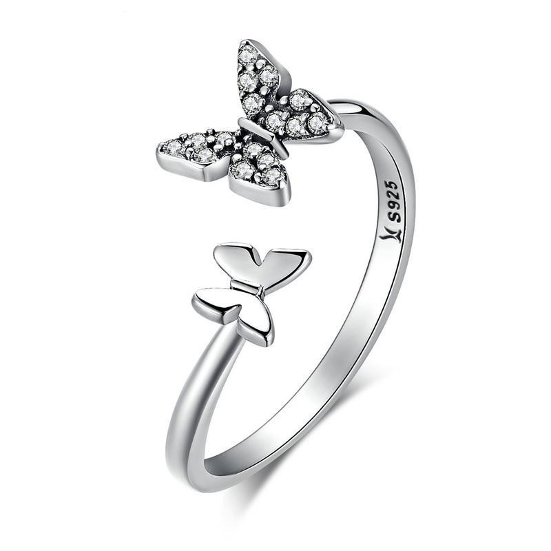 Penelope's Playful Butterflies Finger Ring