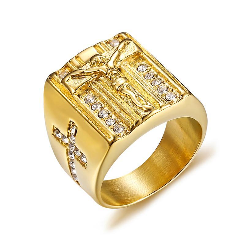Penelope's Jesus on the Cross Catholicism Ring