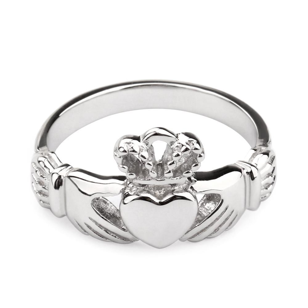 Penelope's Polished Sterling Silver Claddagh Ring