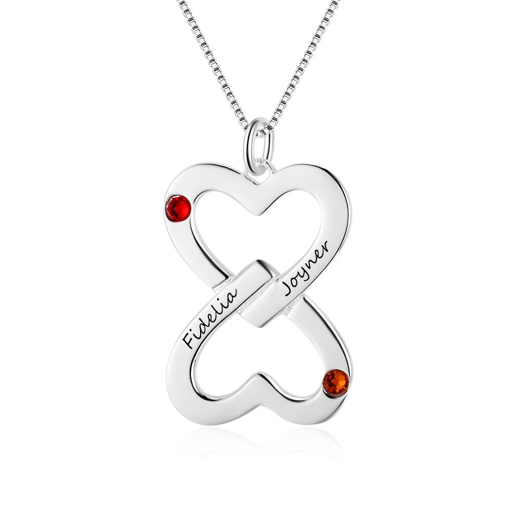 Penelope's Inverted Heart Engrave Name Necklace