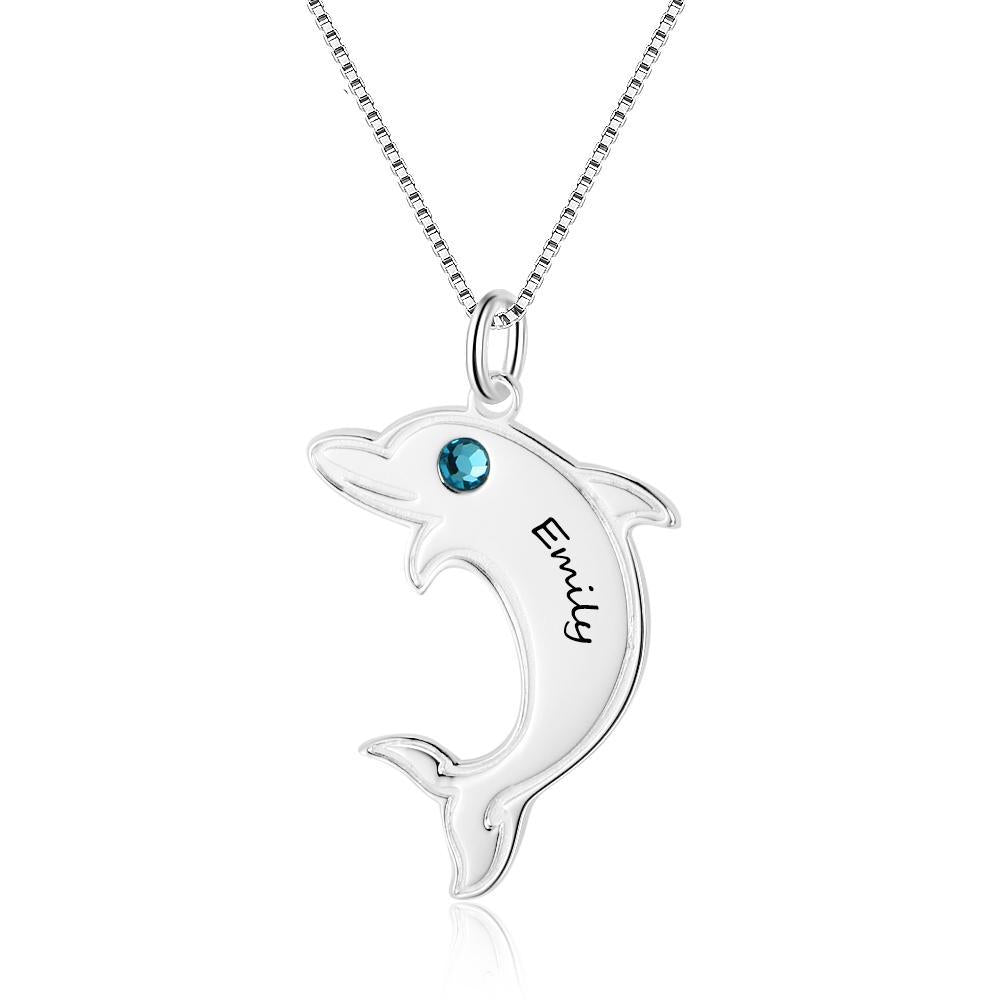 Penelope's Dolphin Personalized Name Necklace