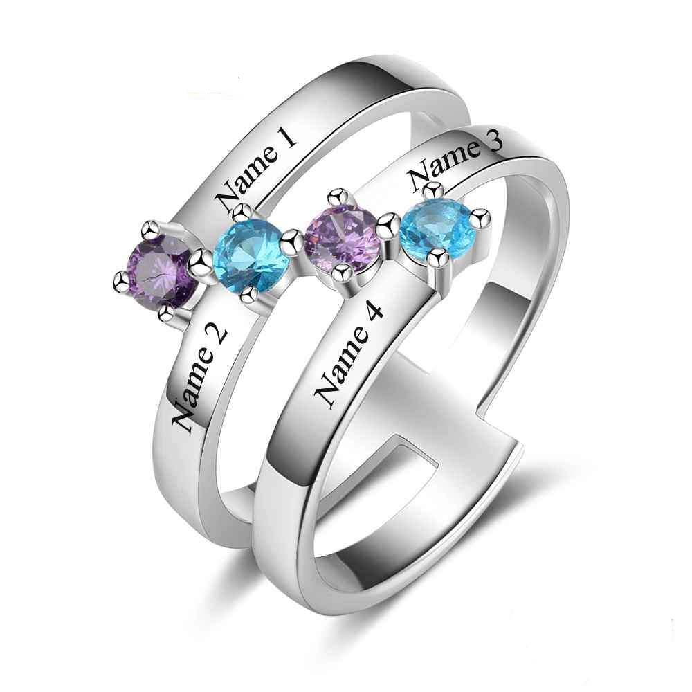 Penelope's Staggered Stones Promise Rings