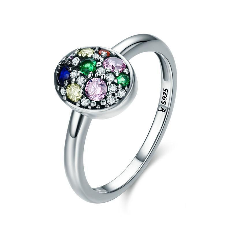 Penelope's Colorful and Glimmering Egg Ring