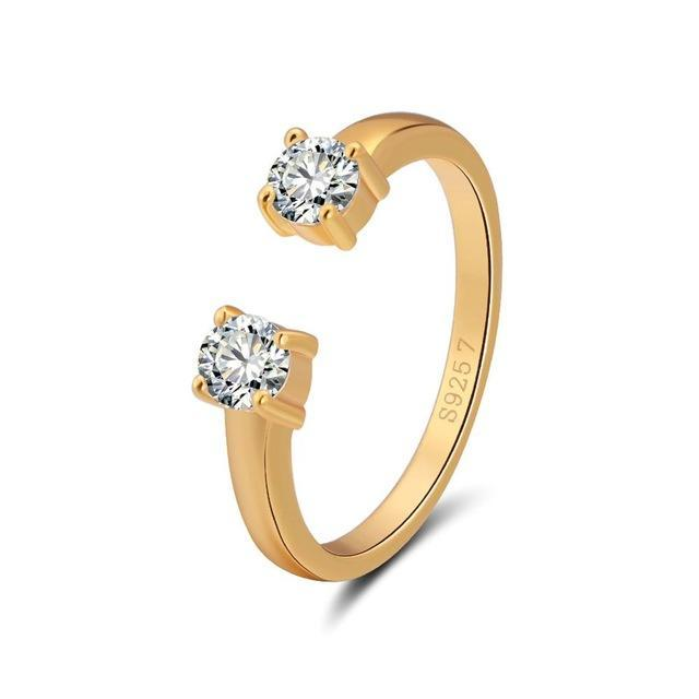 Penelope's Double Zircon Promise Ring