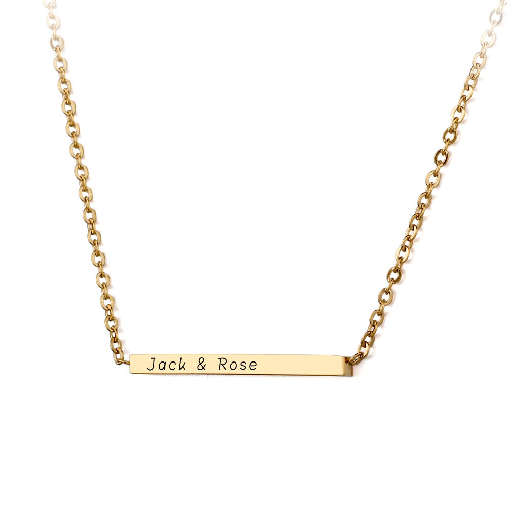 Penelope's Custom Engrave Necklace