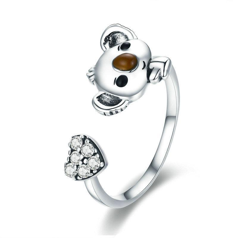 Penelope's Lovely Koala and Heart Ring