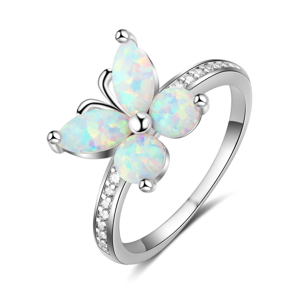 Penelope's Opal Butterfly Finger Ring