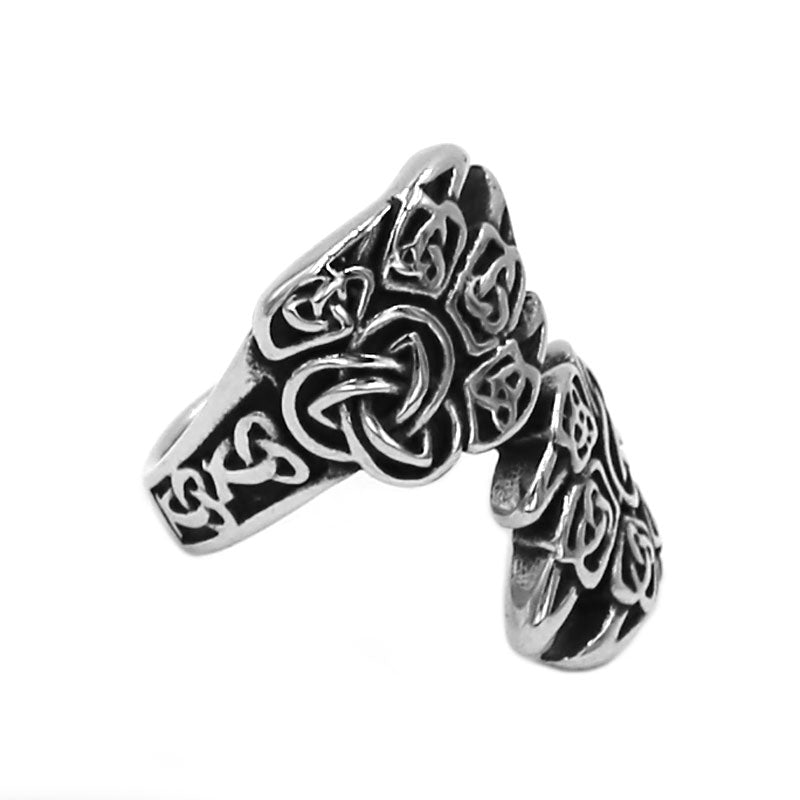 Penelope's Claw Celtic Knot Ring
